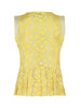Myleen Klass - Yellow Floral Organza Peplum Top