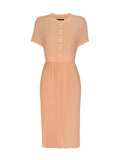 Mollie King - Pintuck Tee Sleeve Pleated Dress