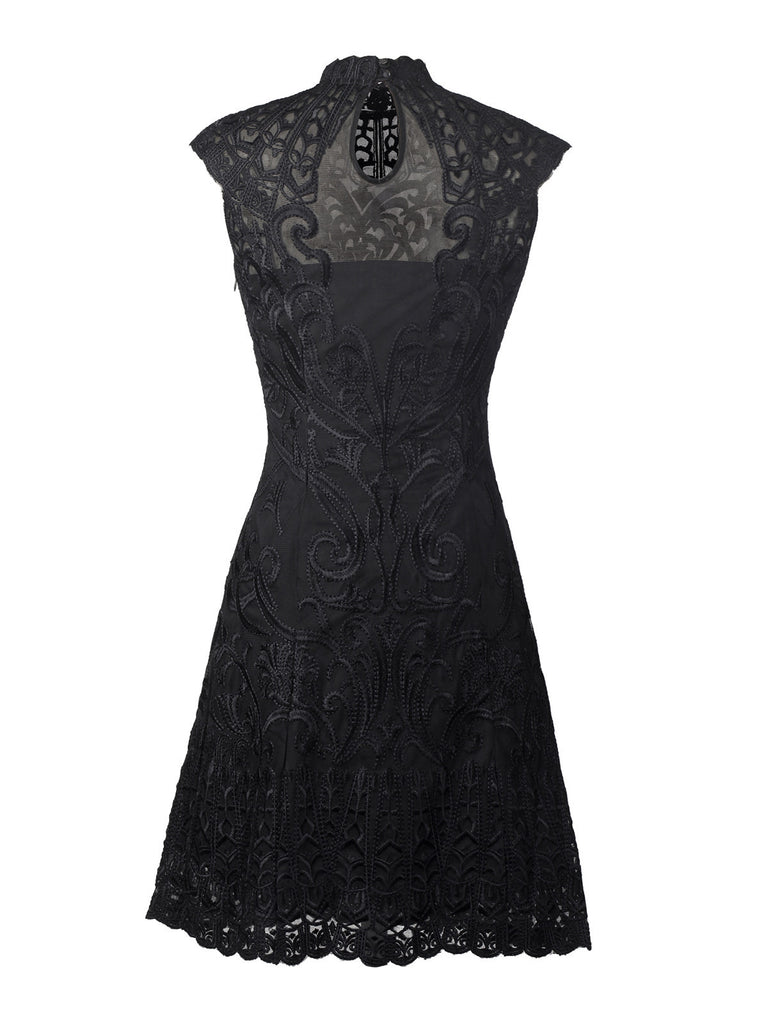 Jodie Whittaker - Embroidery Lace Dress