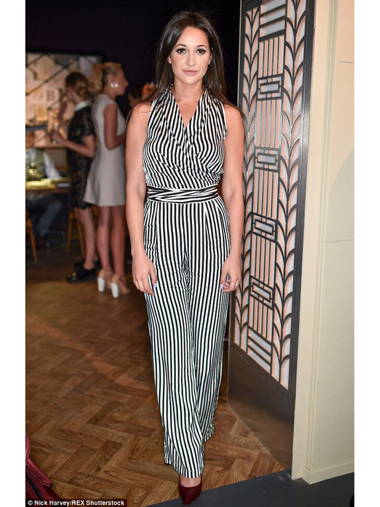 Roxie Nafousi - Black and White Striped Jumpsuit