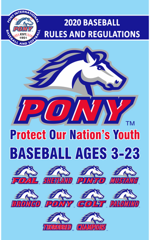 Director Promo Item - 2020 PONY Baseball Rulebook