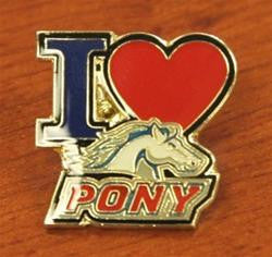 "I ""Heart"" PONY Logo Pin"