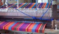 Cotton hammock woven on a loom