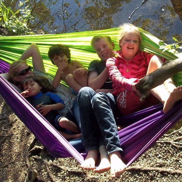 Travel hammocks are strong, compact, hard-wearing and easy to hang. They are very portable so are perfect for camping and in the park or garden.