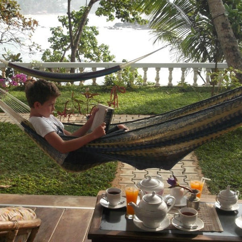 Hand-made Mexican String Hammocks. Elegant, luxurious, extremely strong hammocks:great for indoors or in the garden.
