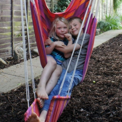These beautiful hammock chairs are extremely comfortable to relax in and with the our free, matching footrests, you can really stretch out. They hang from one point.