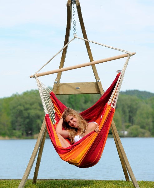 Home U003e Products U003e Wooden Chair Hammock Frame. A Beautiful Free Standing ...