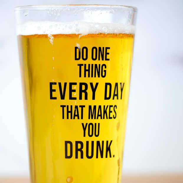 Do one thing... Pint Glass. Case Pack of 12. 1
