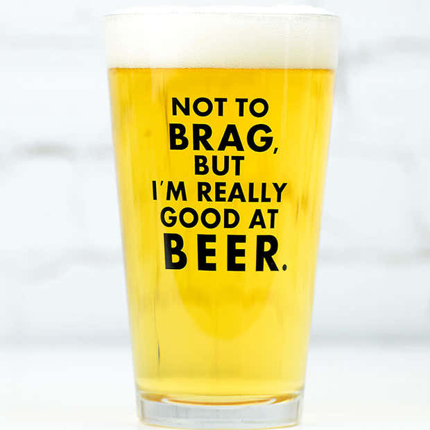 Not to brag... Pint Glass. Case Pack of 12. 1