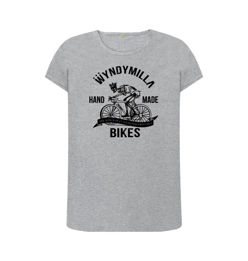 Athletic Grey 'Skeleton Bike'  Crew Neck Top