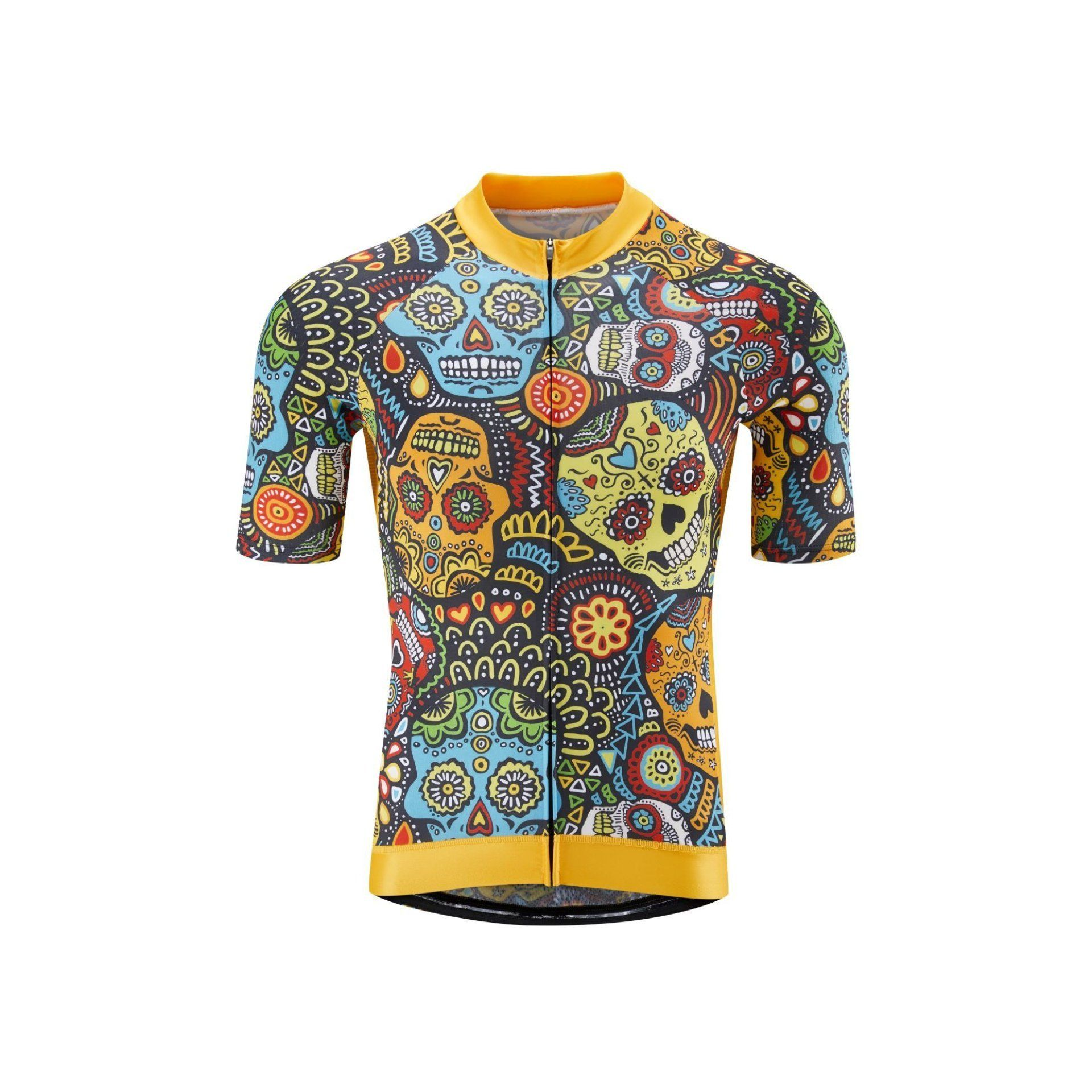 Mexican Candy Skull Jersey by Lusy Koror