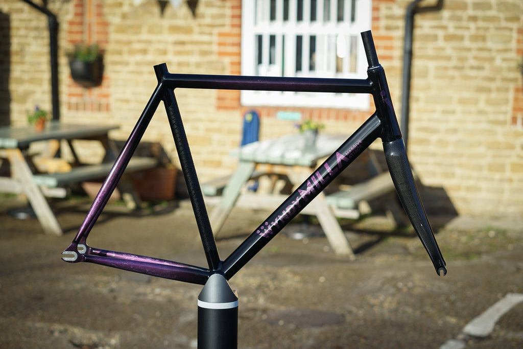 Purple Marble Massive Attack Track Frame - Size X-Large