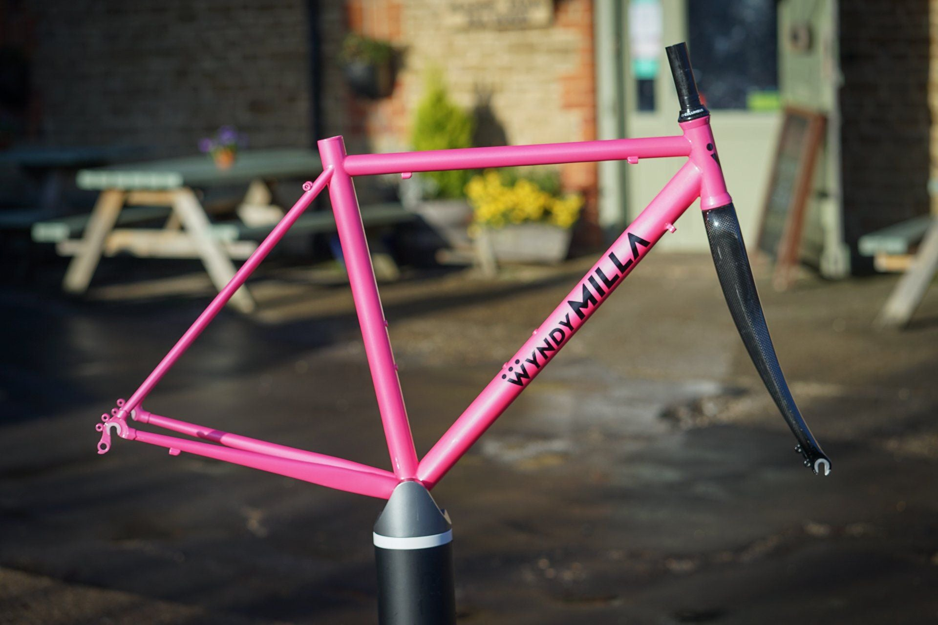 WyndyMilla Pink Johnny Cake Frame - Size Small