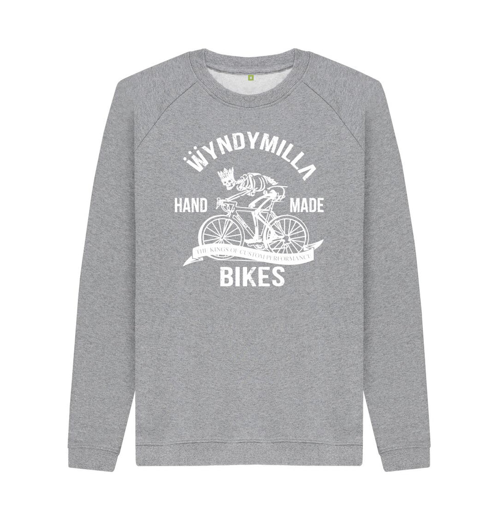 Light Heather Inverted 'Skeleton Bike'  Sweatshirt