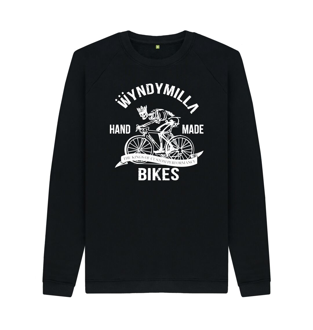 Black Inverted 'Skeleton Bike'  Sweatshirt