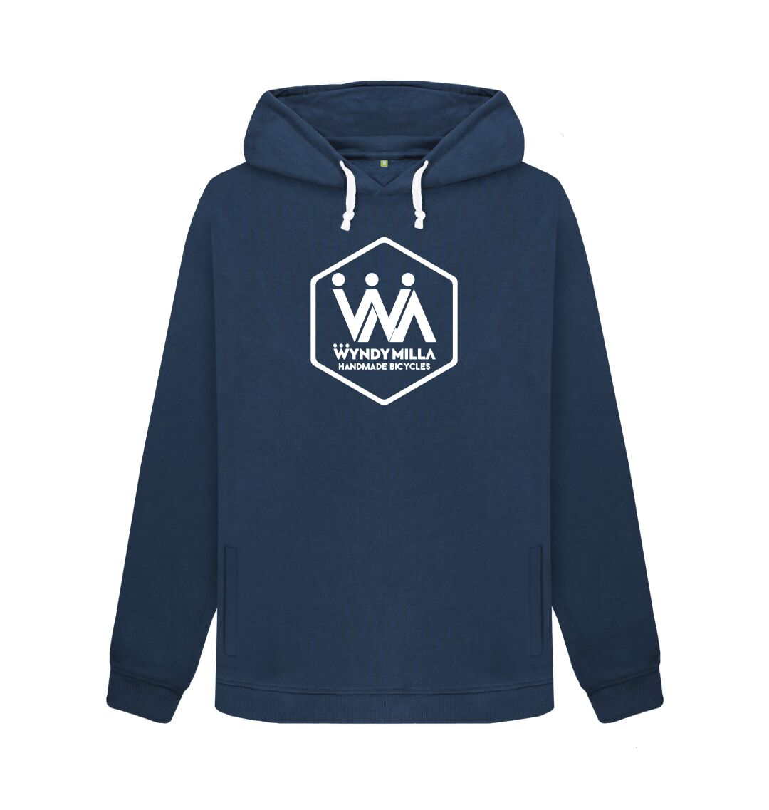 Navy Blue WyndyMilla Women's 'Hexagon' Hoodie