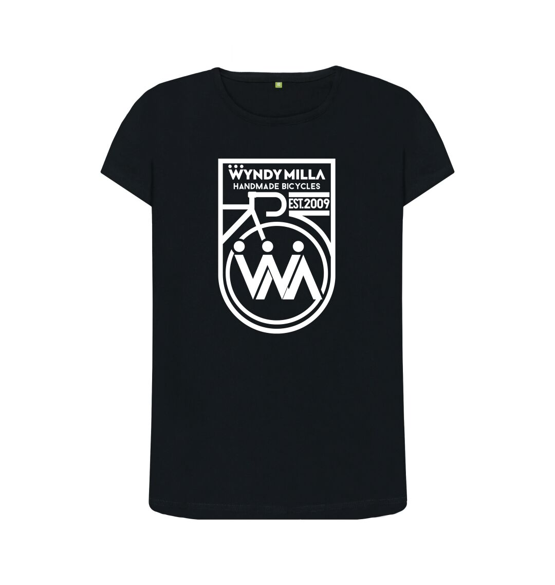 Black WyndyMilla 'Inverted Shield' Crew Neck Top