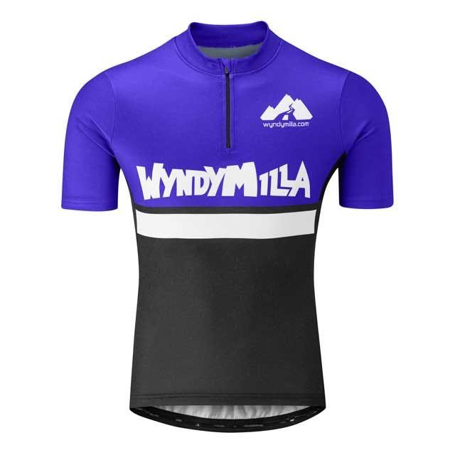 Wool Blend Jersey Full Fat Blue
