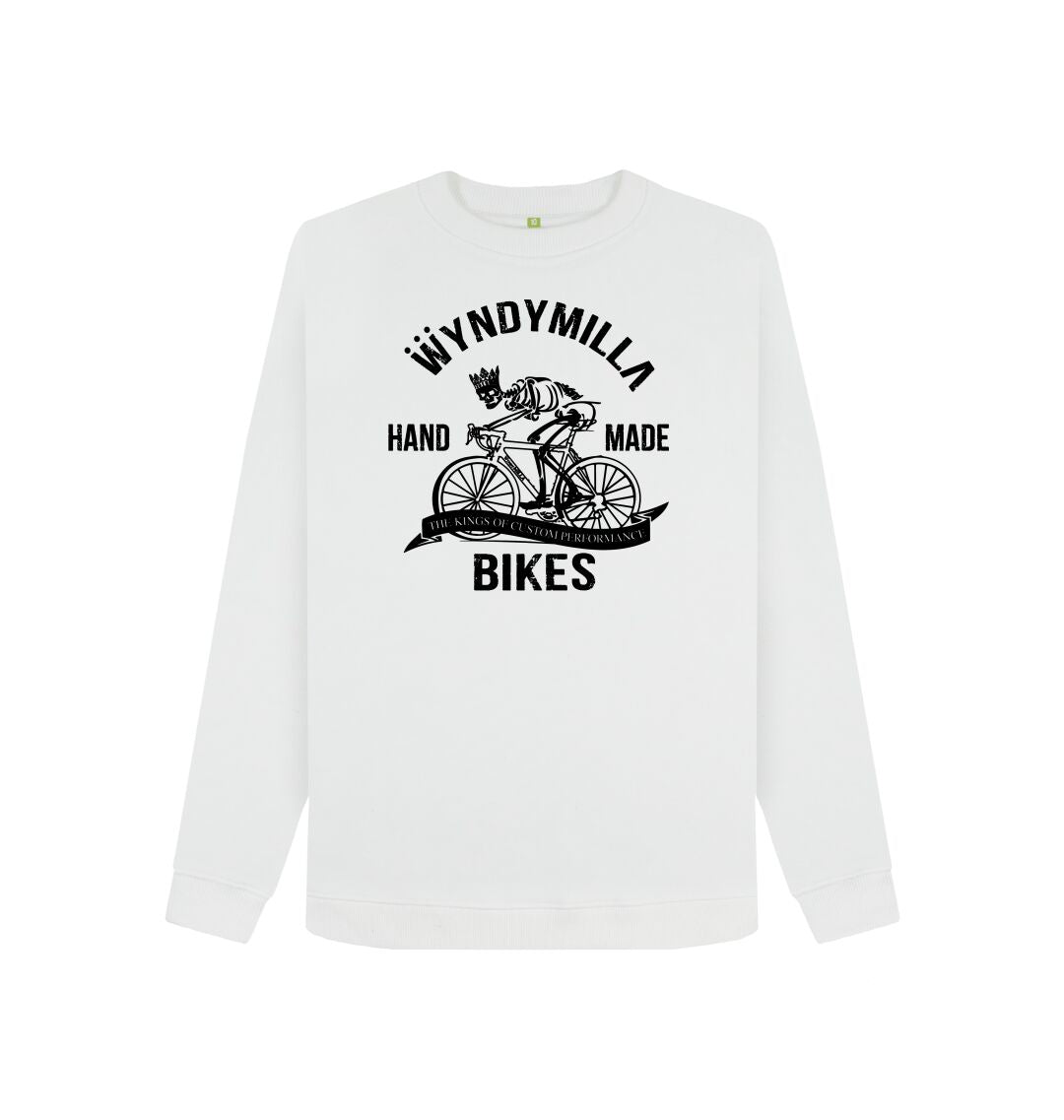 White 'Skeleton Bike'  Women's Sweatshirt
