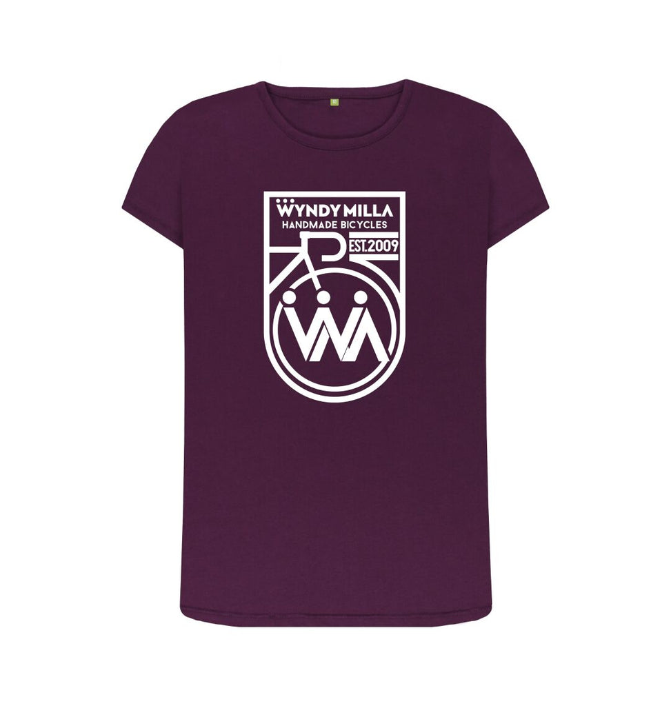 Purple WyndyMilla 'Inverted Shield' Crew Neck Top