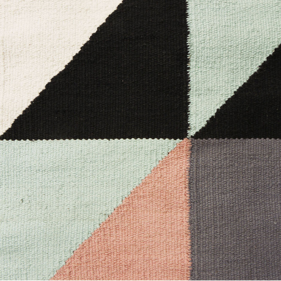 Kobenhavn Dhurry, rug, pattern, triangle, cotton, Chic Cham, DADADUM