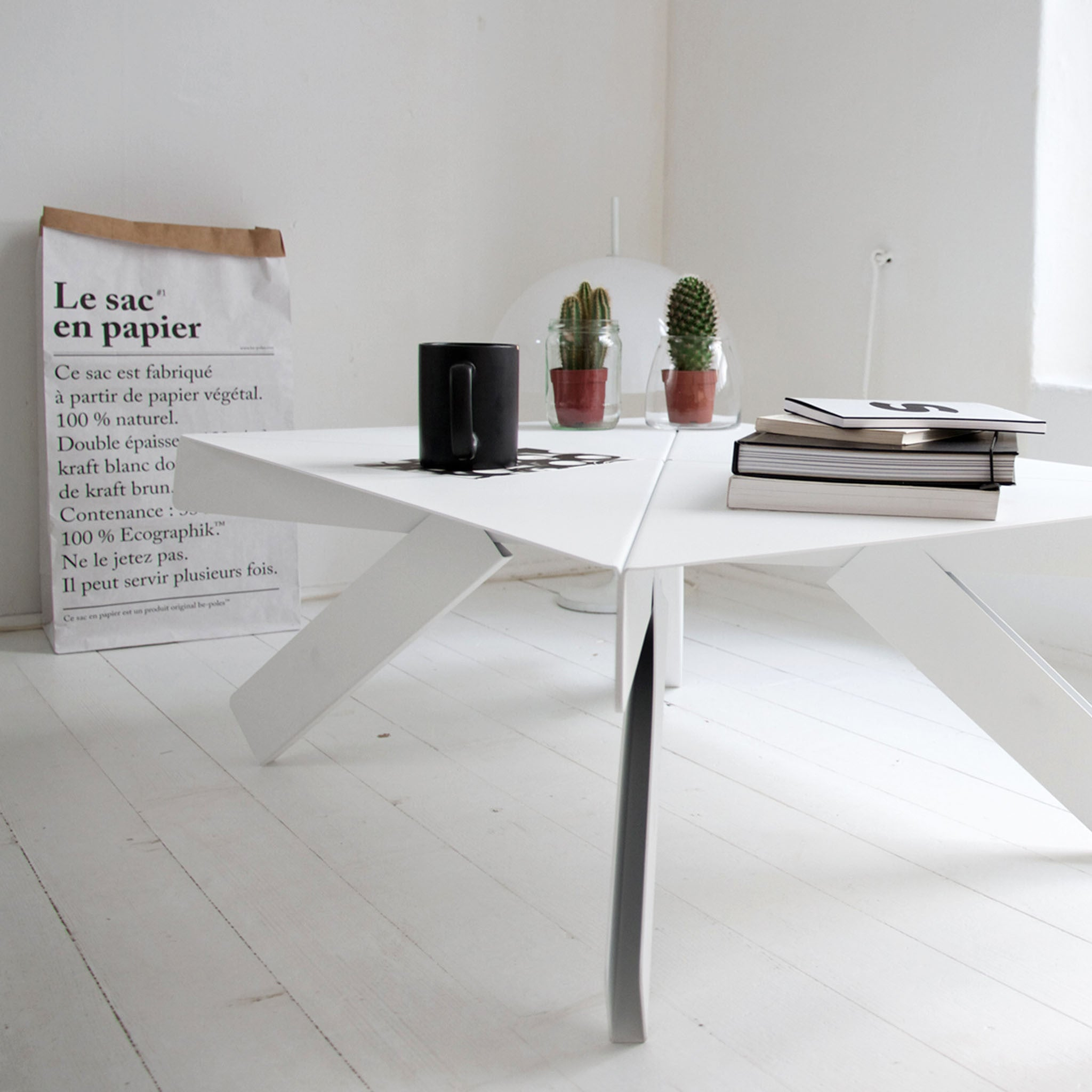 Origami, table, coffee table, steel, Jörg Boner, DADADUM