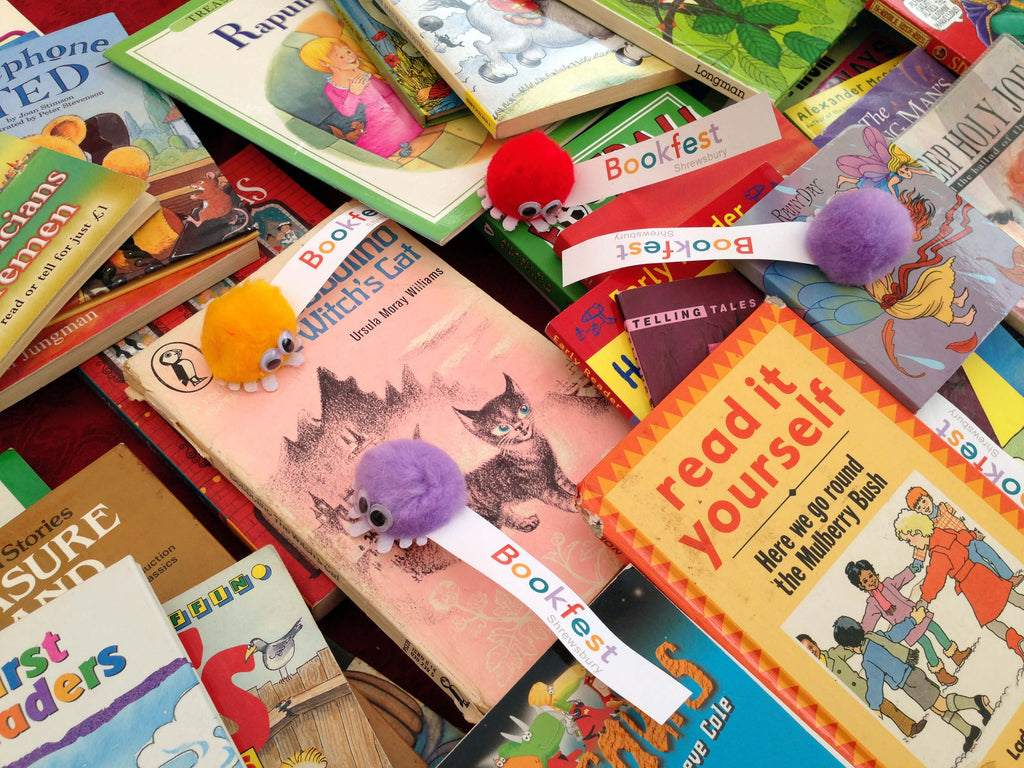 Heaps of children's books to swap or buy on the Bookfest tables.