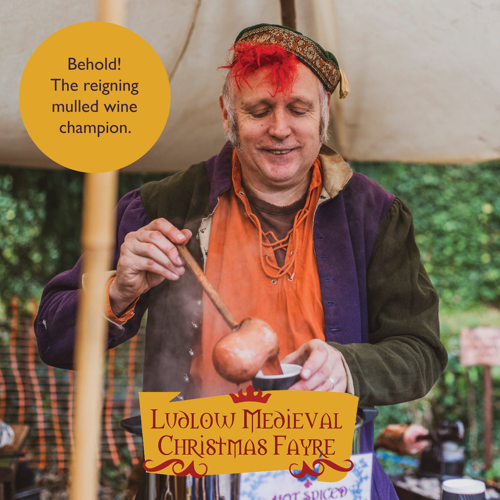 This chap makes the best mulled wine at Ludlow Medieval Christmas Fayre. Highly recommended.