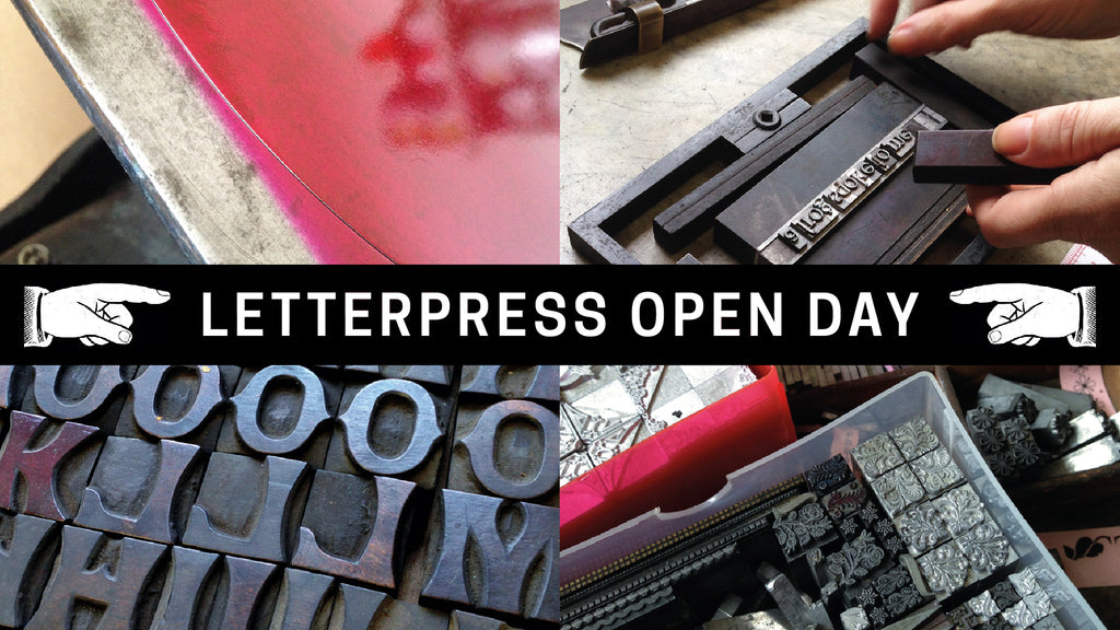 Letterpress open day at Mostly Flat, Ludlow, Friday 7th April 2017