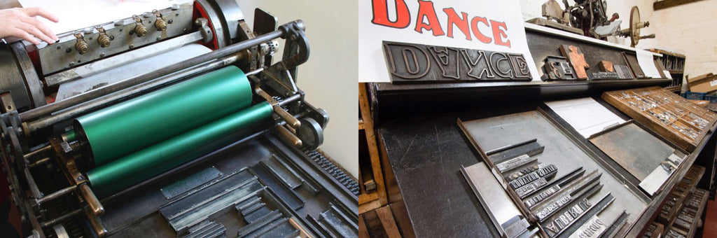 Letterpress printing demonstrations at the 2016 Book Day at The Grange