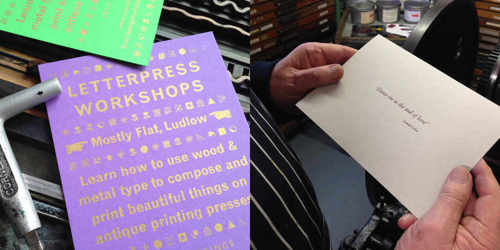 Letterpress printing workshops at Mostly Flat