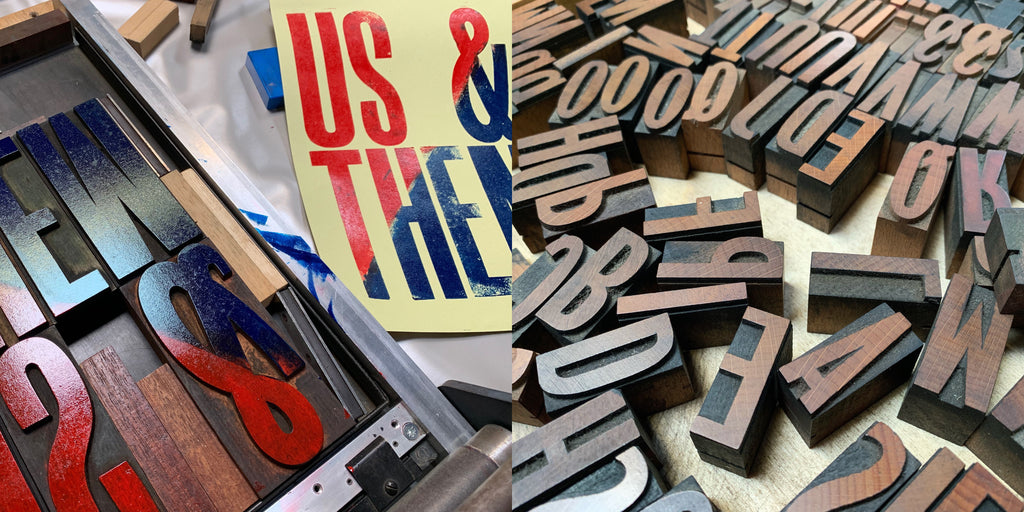 Use wood poster type and a proof press to print your own letterpress poster