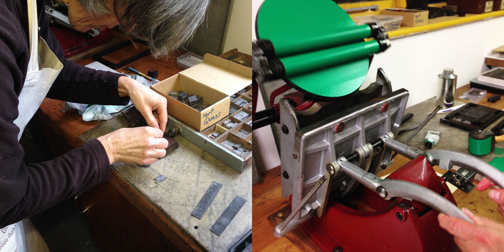 Letterpress printing workshops in Ludlow, Shropshire
