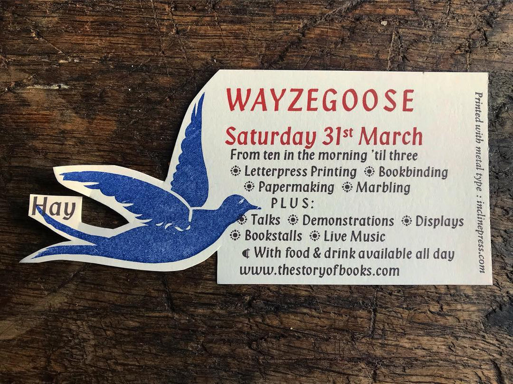 Baskerville Wayzgoose 2018 in Hay-on-Wye