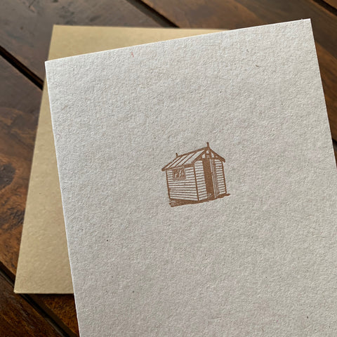 Shed letterpress greetings card
