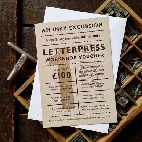 Letterpress workshop voucher