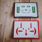 Miaow & Bow Wow letterpress greetings cards