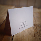 Bow Wow letterpress greetings card