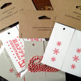 Happy Christmas letterpress gift tags letterpress gift tags