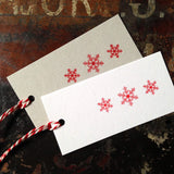 Snowflake letterpress gift tags