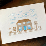 There's No Place Like Home A5 limited edition letterpress print