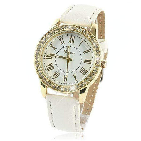 annabelle-demo3 Watches White Studded Watch