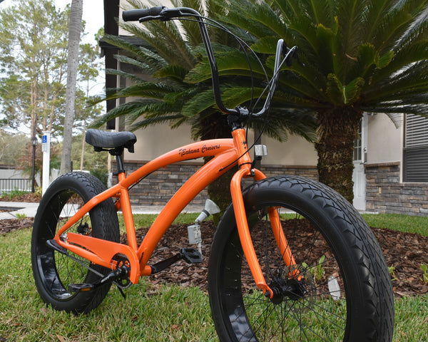 BAHAMA CRUISERS 3 Speed | Bugatti Orange Frame/Black Wheels