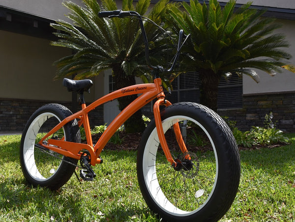 SPECIAL EDITION | 3 Speed Bugatti Neon Orange Alloy Frame/White Wheels