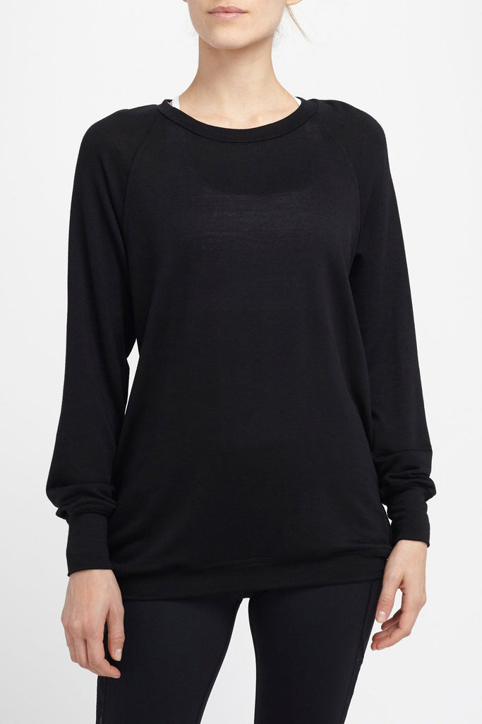 Body Language-Long Sleeved Tee-JUJA Active-Seymour Pullover - Black