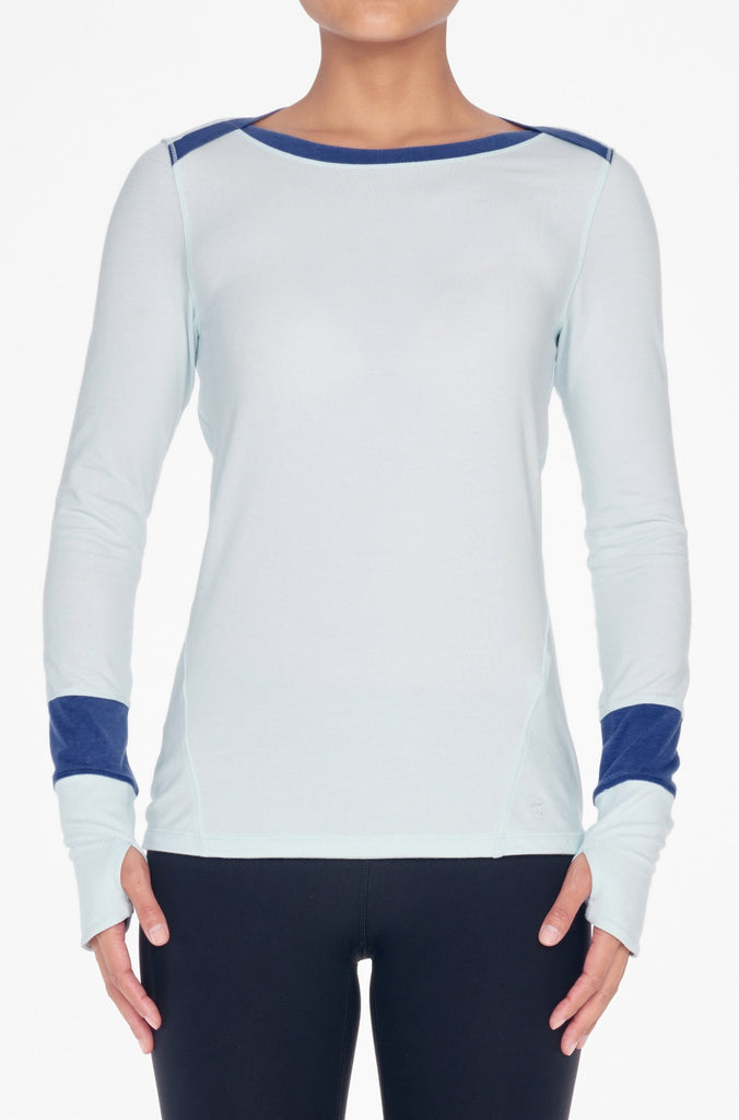 Crane & Lion-Long Sleeved Tee-JUJA Active-Long Sleeve Tee - Wan Blue