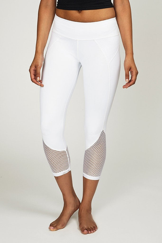 Chichi Active-Capri-JUJA Active-Demi Mesh Panel Capri