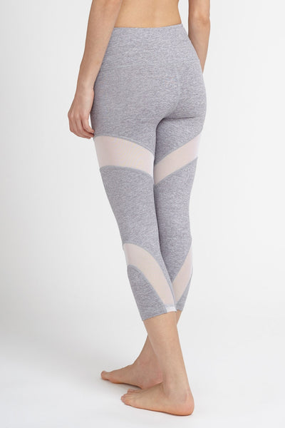 Chichi Active-Capri-JUJA Active-Daisy Crop - Silver/White