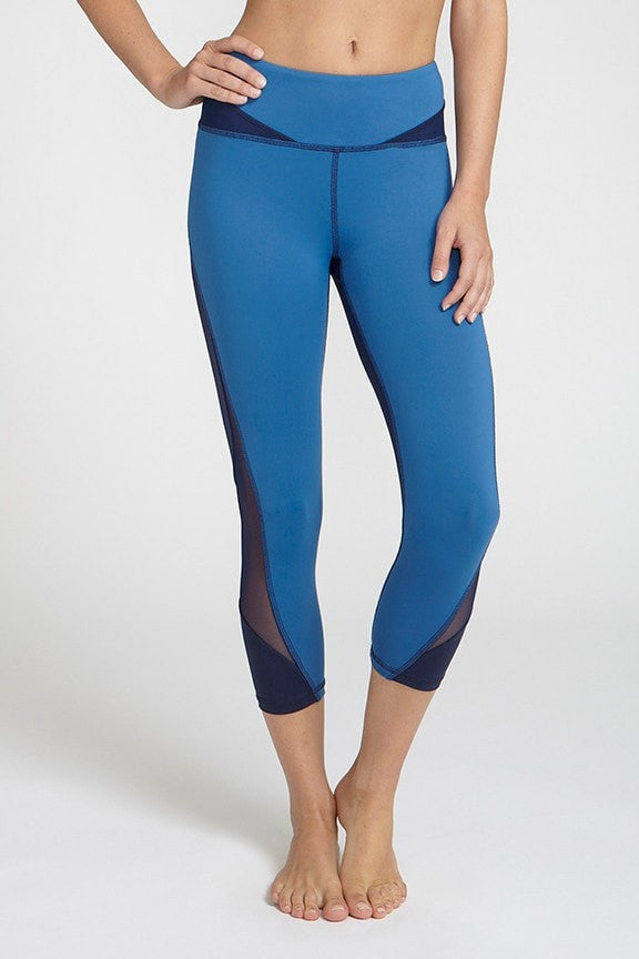 Chichi Active-Capri-JUJA Active-Selena Crop - Blue
