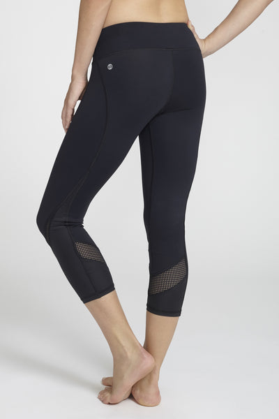 Chichi Active-Capri-JUJA Active-Tatiana Capri - Black/Black Leather